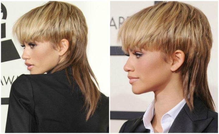 стрижка гаврош женская фото на длинные волосы