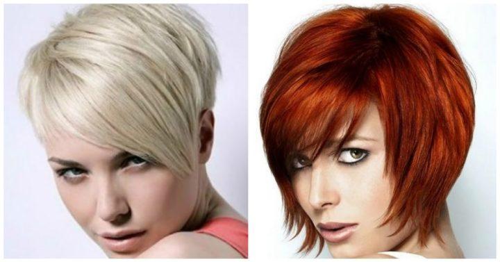 Женские стрижки на короткие волосы фото, вид спереди, сзади, для круглого, удлиненного лица, полных, подростков, пожилых