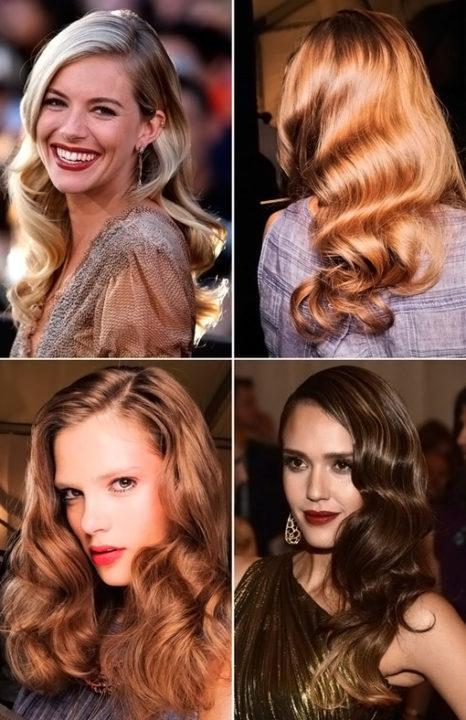 Голливудская укладка на длинные волосы