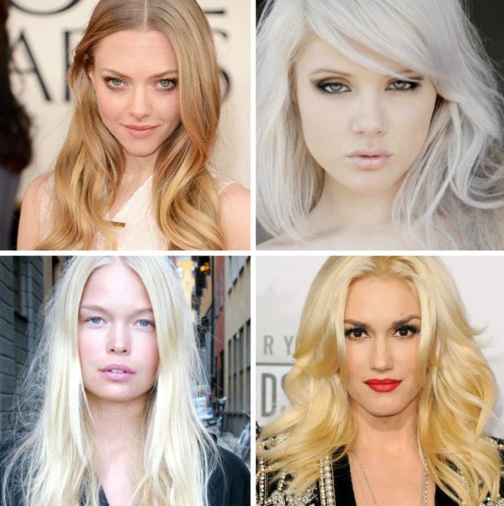 Красивые оттенки блонда краски