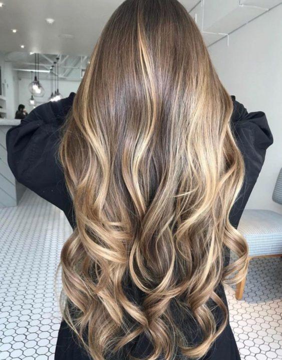 Мелкое частое мелирование на русые волосы