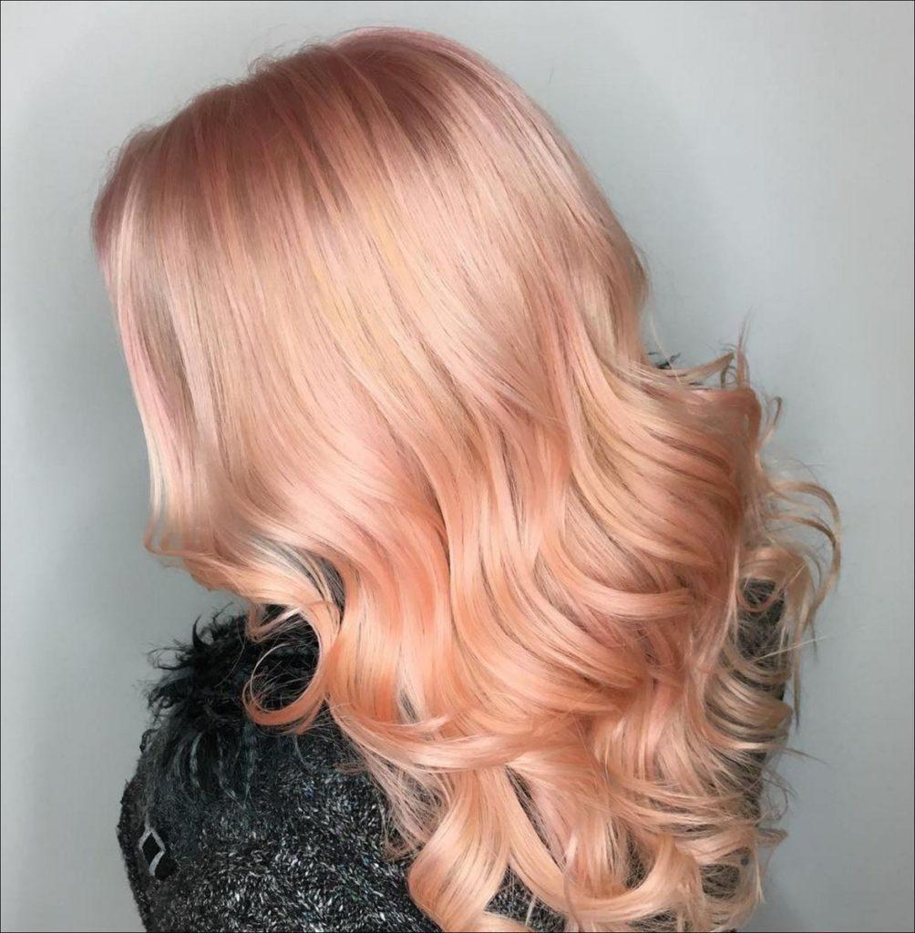 креветочный цвет волос фото уже немало