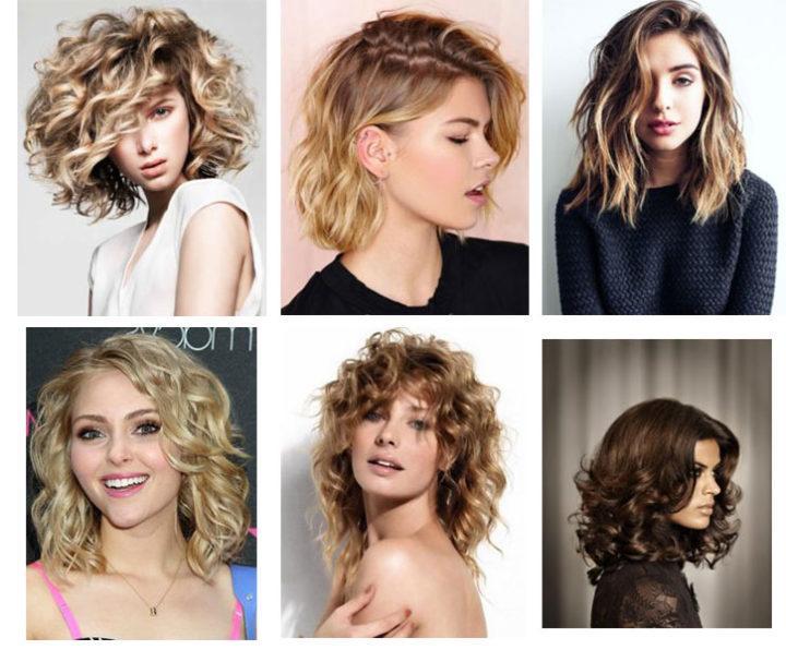 Женские стрижки кучерявых волос