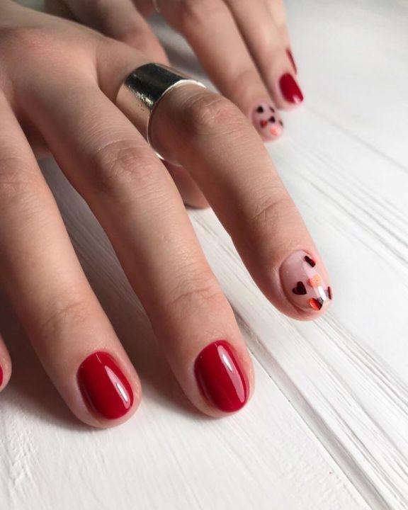 Маникюр на короткие ногти модные цвета