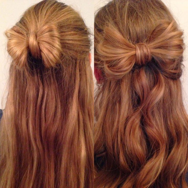Бант из волос - как сделать, виды (50 фото)