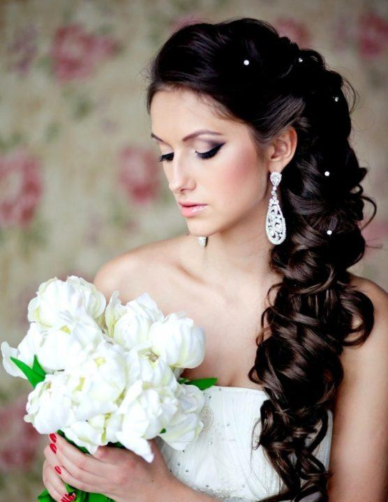 Красивые свадебные прически косички