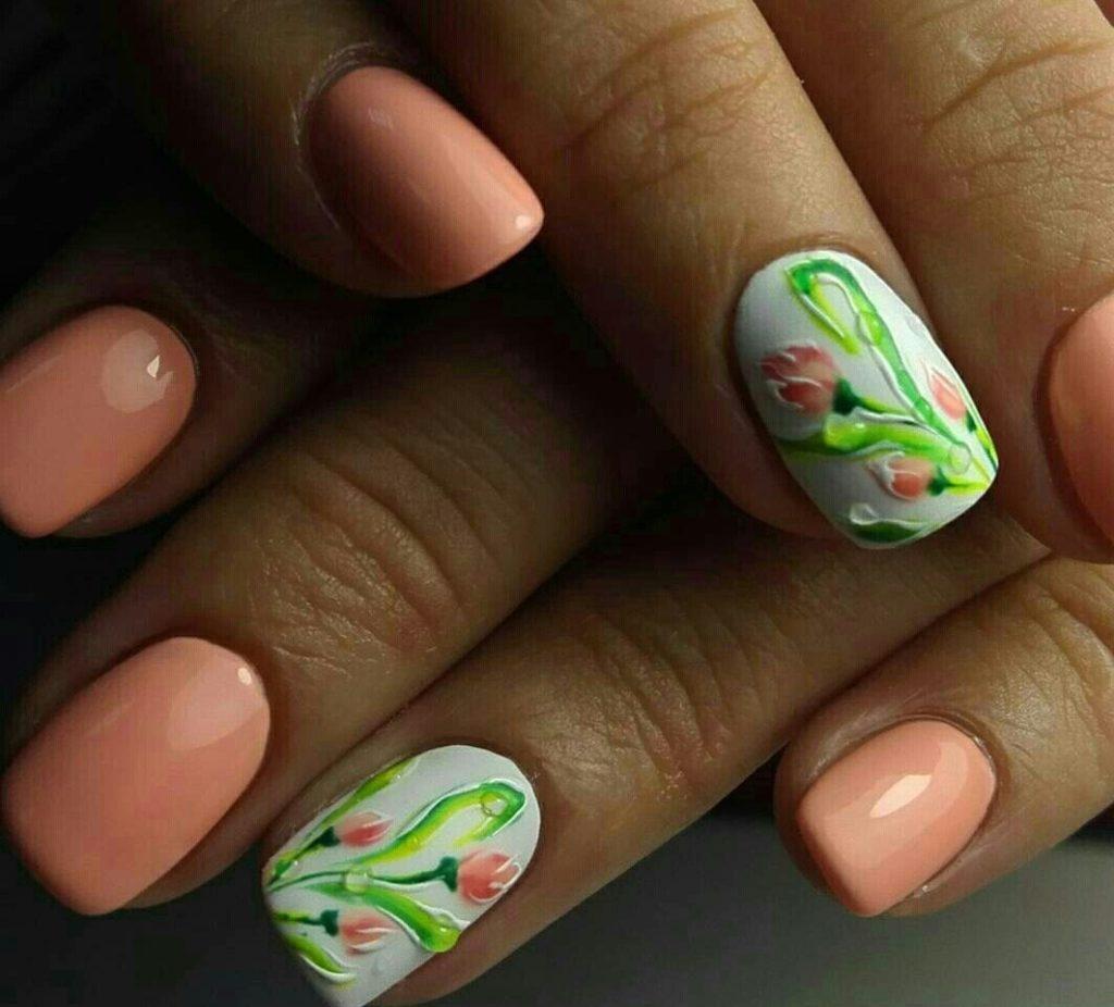 дизайн ногтей с тюльпанами фото болтов фундаменты закладываются