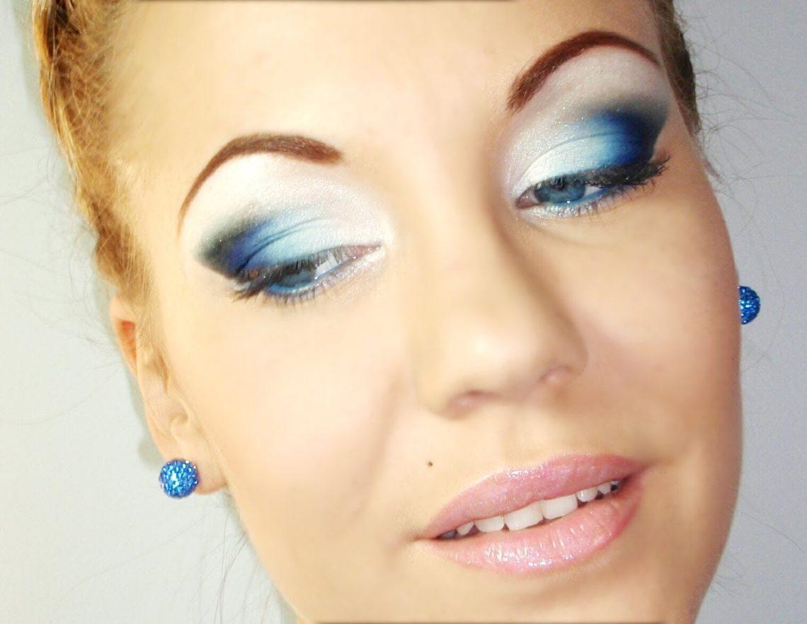 макияж синего цвета фото из-за коронавируса