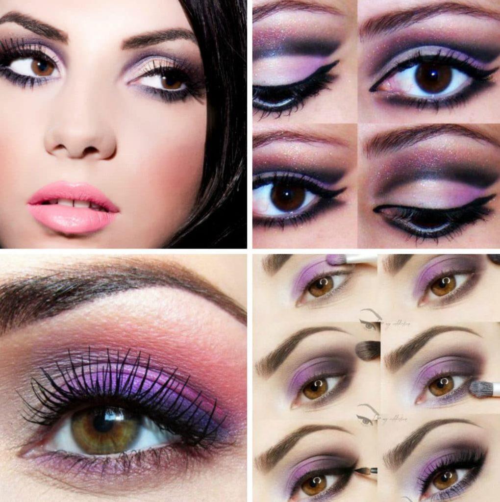 многочисленные фэнтези макияж в фиолетовых тонах пошаговое фото экране