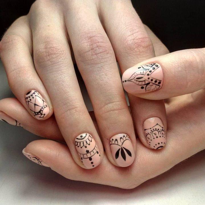 Узоры на ногтях (121 фото): как сделать маникюр с орнаментом в домашних условиях? Поэтапное руководство для начинающих