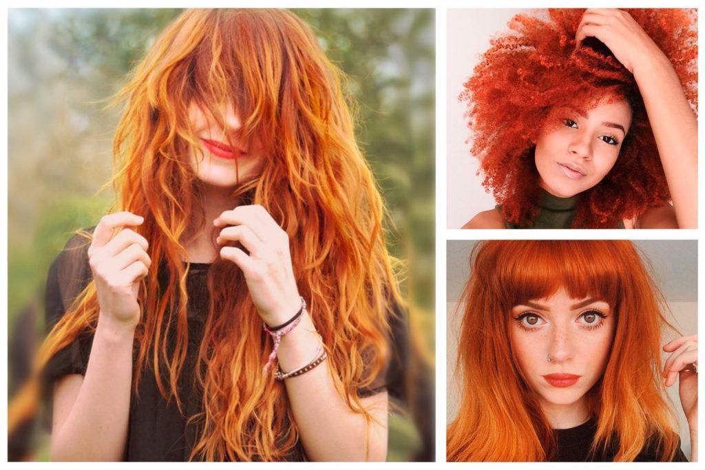 Ярко-рыжий цвет волос , краска для волос без рыжего оттенка, желтизны и рыжины