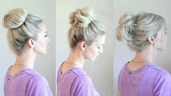 Пучки из волос как делать