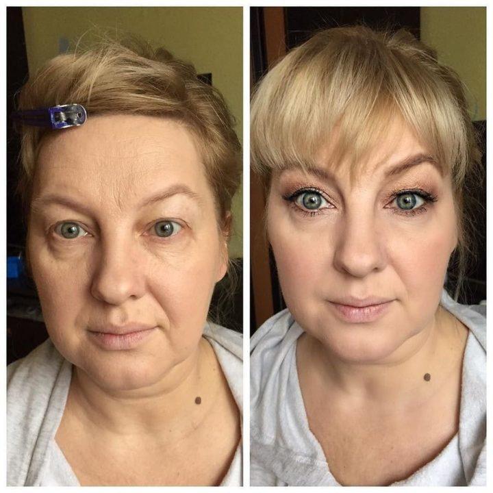 Возрастной макияж (50 фото)